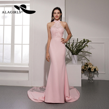 Alagirls 2019 New Arrival Mermaid Evening Dress Sexy Sleeveless Evening Gown Backless Party dress Sexy Prom Dress
