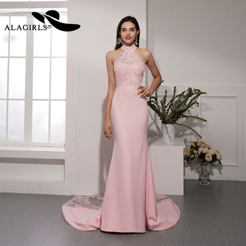 Alagirls New Arrival Mermaid Evening Dress Sexy Sleeveless Evening Gown Backless Party dress Sexy Prom Dress