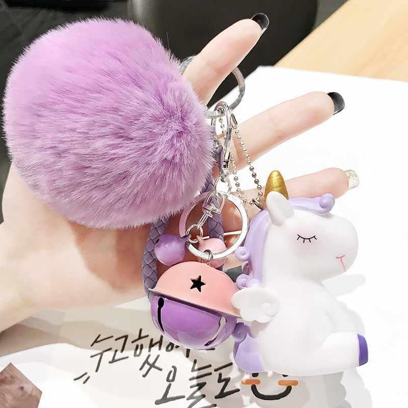 Cavalo dos desenhos animados Animais Crianças Brinquedo Keychain Para As Mulheres Menina De Metal Trinket Chaveiro Carro Saco Pendente do Encanto