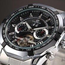Forsining Mens Watches Top Brand Luxury Tourbillon Design Clock Mechanical Watch Military Self Winding Automatic Men Wrist Watch