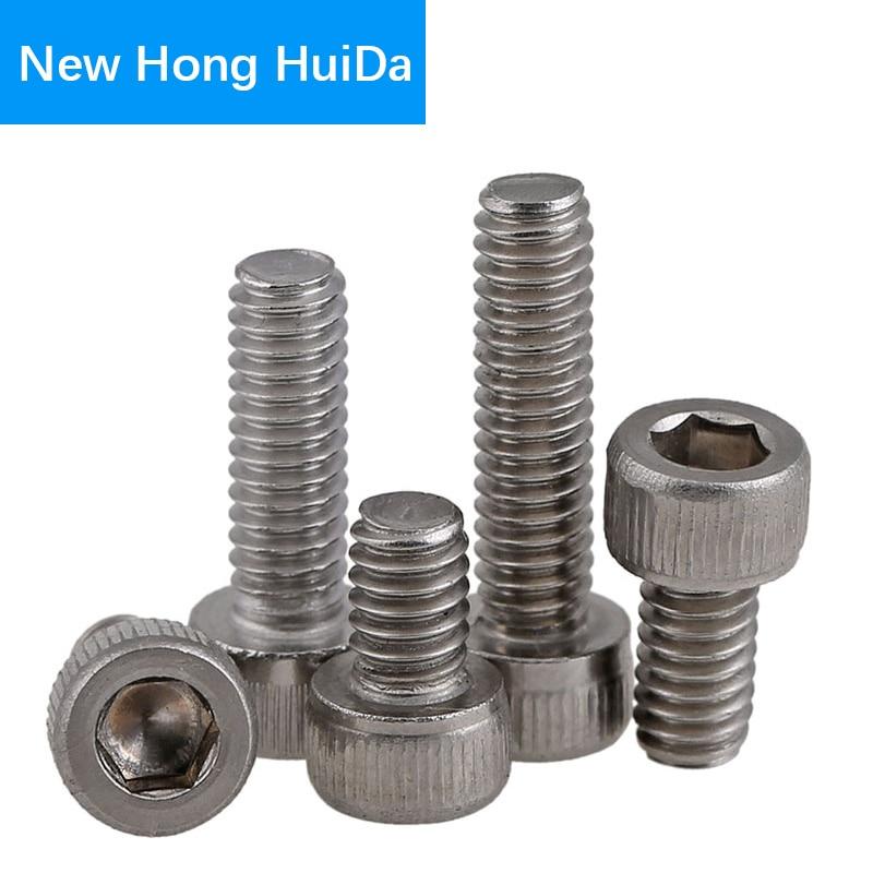DIN912 Hex Head Socket Cap Screws Hexagon Thread Metric Machine Allen Bolt 304 Stainless Steel M5 in Screws from Home Improvement
