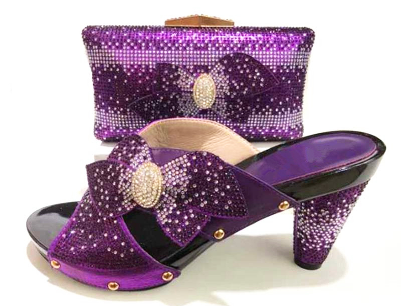 Fashion 2018 matching set italian design shoe and bag handmade high quality shoes and bag to match for african lady SB8171-6 doershow shoe and bag to match italian african shoe and bag sets women shoe and bag to match for parties african shoe htx1 18