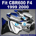 ABS Injection bodywork fairing kits for HONDA 1999 2000 CBR600F4 CBR600 99 00 F4 CBR600F white black motorcycle fairngs parts