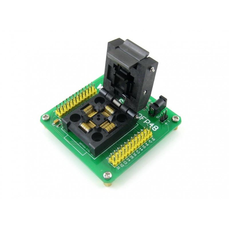 цена на STM8-QFP48 # QFP48 TQFP48 FQFP48 PQFP48 STM8 Yamaichi IC Test Socket Programming Adapter 0.5mm Pitch