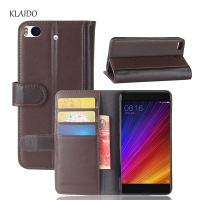 KLAIDO Genuine Leather Mobile Phone Case For Xiaomi Mi5s Case Flip Wallet Case Mi5s Mi 5s