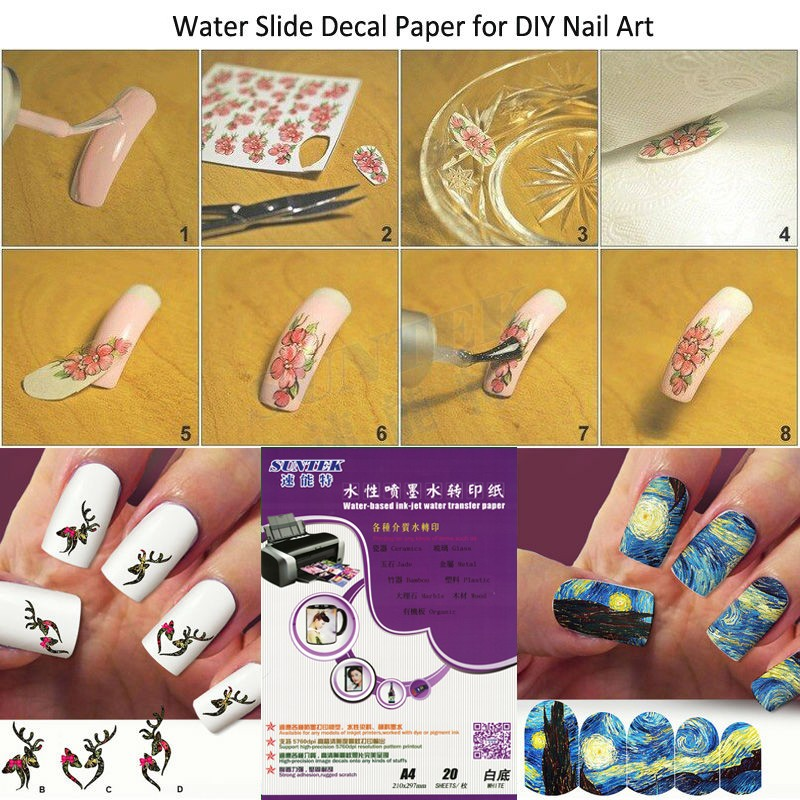 Aliexpress Free Sles A4 Inkjet Water Transfer Printing Paper Blank Sticker For Diy Nails Slide Decals Stickers From Reliable
