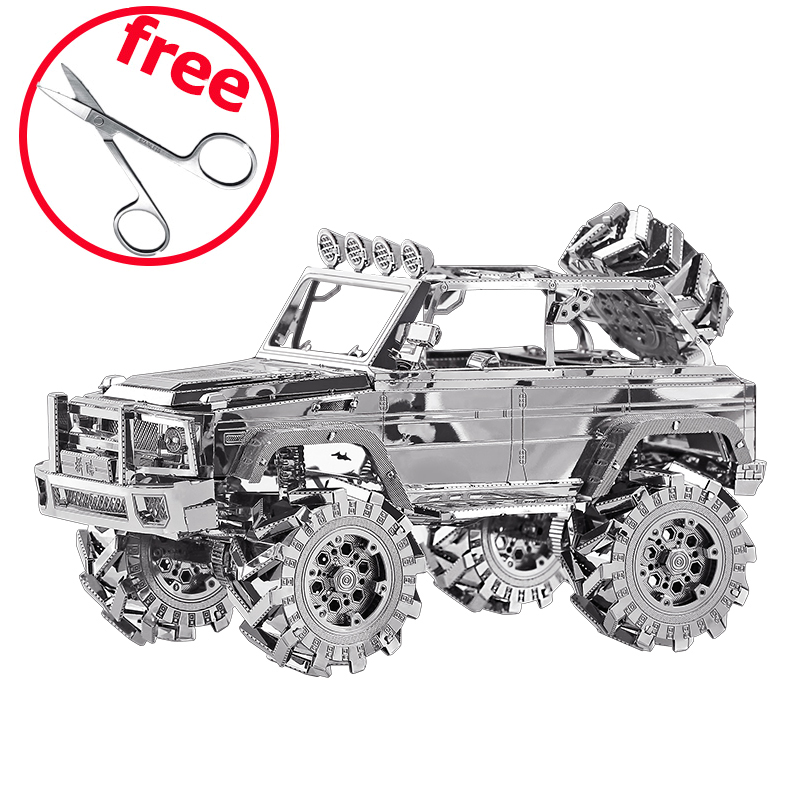 Piececool 3D Metal Puzzle 3D Models / Brinquedos Car Kids Toy Puzzle P078-S SUV Off-Road Vehicle Cars Toys For Adults