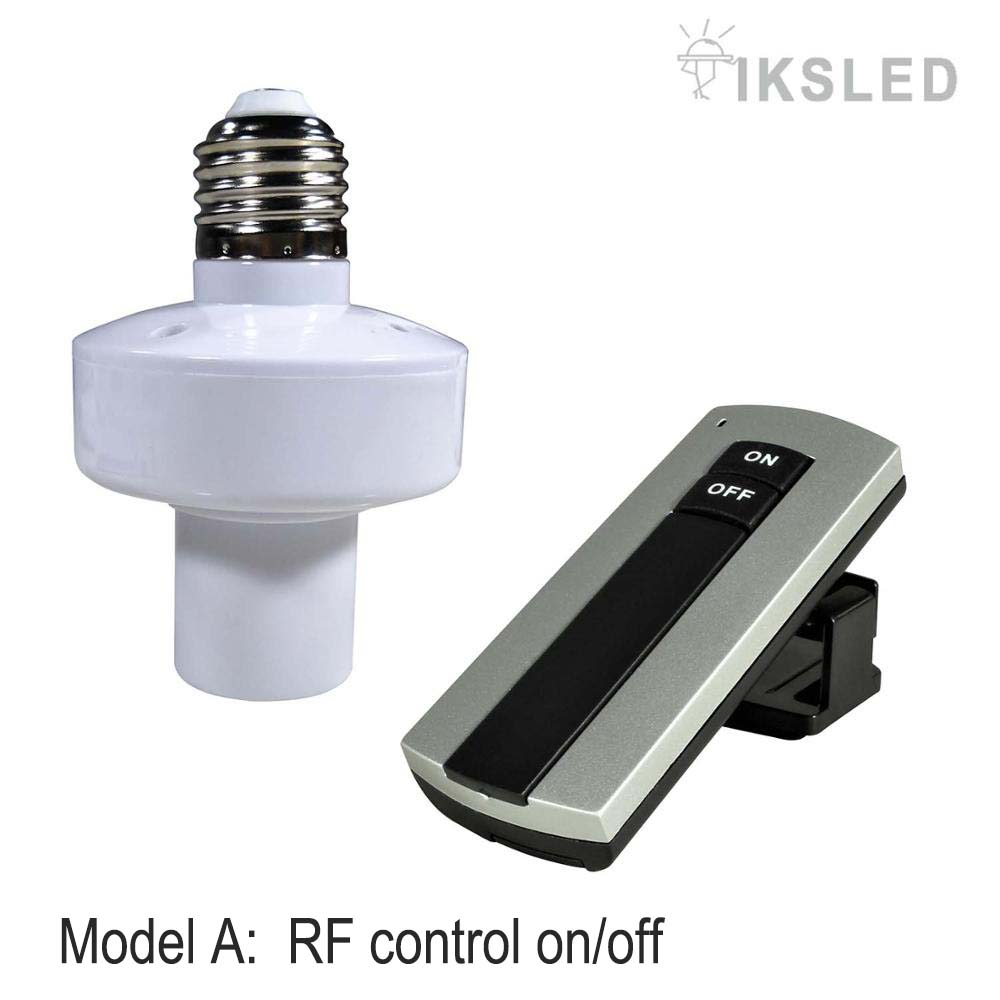 Hospitable Wireless Remote Control Light Durable E27 Screw Lamp Bulb Holder Cap Socket Switch Led Bulbs Tubes New On Off Night Light Bases Making Things Convenient For Customers