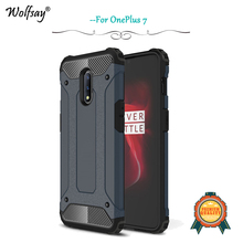 OnePlus 7 Case Luxury Silm Shockproof Armor Rubber Silicone Hard PC Phone For Back Cover 1+7 Fundas
