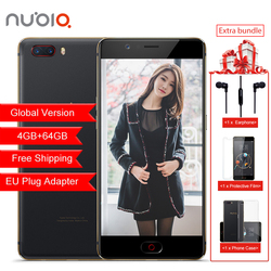 Global Version Nubia M2 4GB RAM 64GB ROM Mobile Phone Snapdragon 625 Octa Core 4G LTE 13.0MP+13.0MP Dual Rear Camera