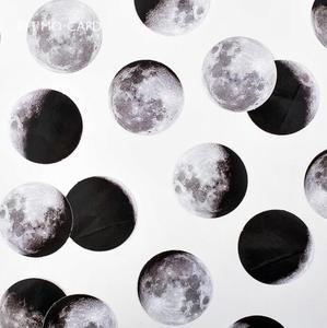 Image 3 - 24 pack/lot Dark Moon Star Decorative Stickers Adhesive Stickers DIY Decoration Diary Stickers Box Package