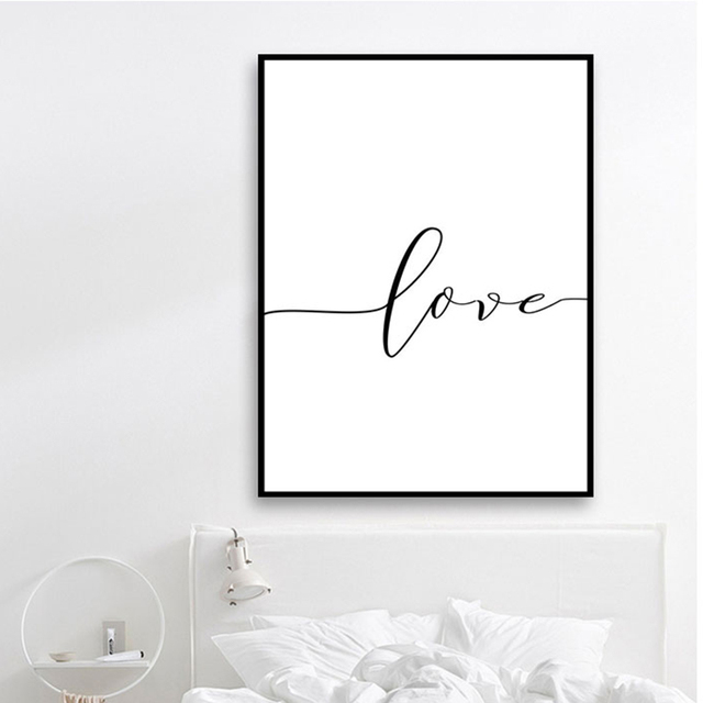 Poster Black And White Holding Hands Picture Canvas Prints Lover Quote Painting Wall Art For Living Room Minimalist Decor