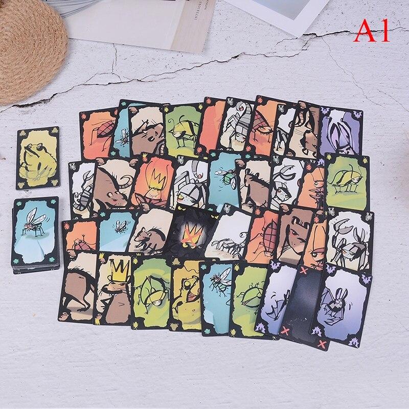 1 jeu de cartes drôles Kakerlaken Salat/Poker/Royal/Suppe/Mogel Motte jeu de société partie familiale cafard jeu d'intérieur