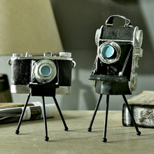 RetroTripod Camera Model Figurines Household Decoration Crafts Shop Window Personalization Ornaments Photography Props Crafts(China)