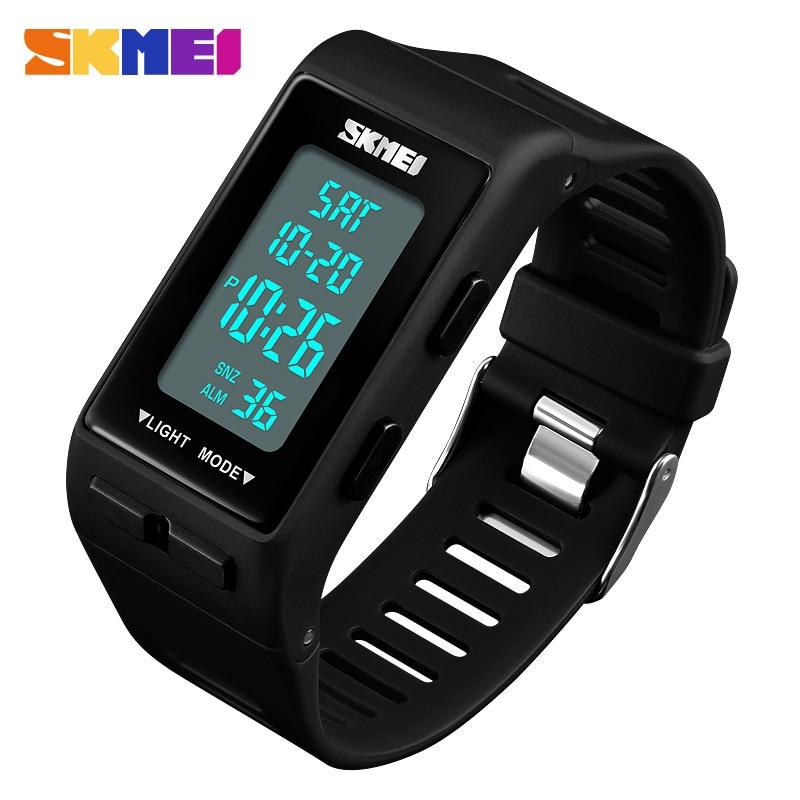 Men Sports Watches Count Down Waterproof LED Watch Women Fashion Digital Wristwatches Male Clock Reloj Hombre SKMEI 2018