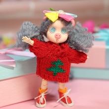 Ob11 детская одежда вязаный свитер зимняя одежда 1/12 1/8 BJD красивый узел Мягкая игрушка «поросенок» Одежда Аксессуары для кукол
