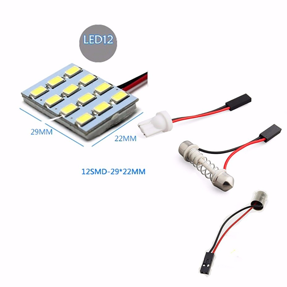 Geetans Led Car T10 Ba9s Festoon Dome Interior Lamp 36smd About White 12v 36 Circuit Board Rv Boat Light Bulb New Only Power 1w 3w Luminous Flux 160 200lm Lifespan 60 000 Hours Package Include 1 Piece Adapter
