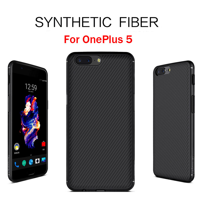 Nillkin Synthetic Fiber Case for OnePlus 5 One Plus 5 Carbon Fiber Case thin Plastic Back