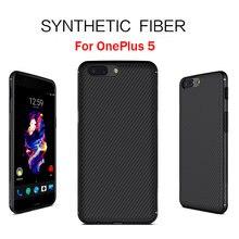 Nillkin Synthetic Fiber чехол для OnePlus 5 One Plus 5 углеродного волокна случае тонкий пластик задней крышки FIT с магнитной Держатель