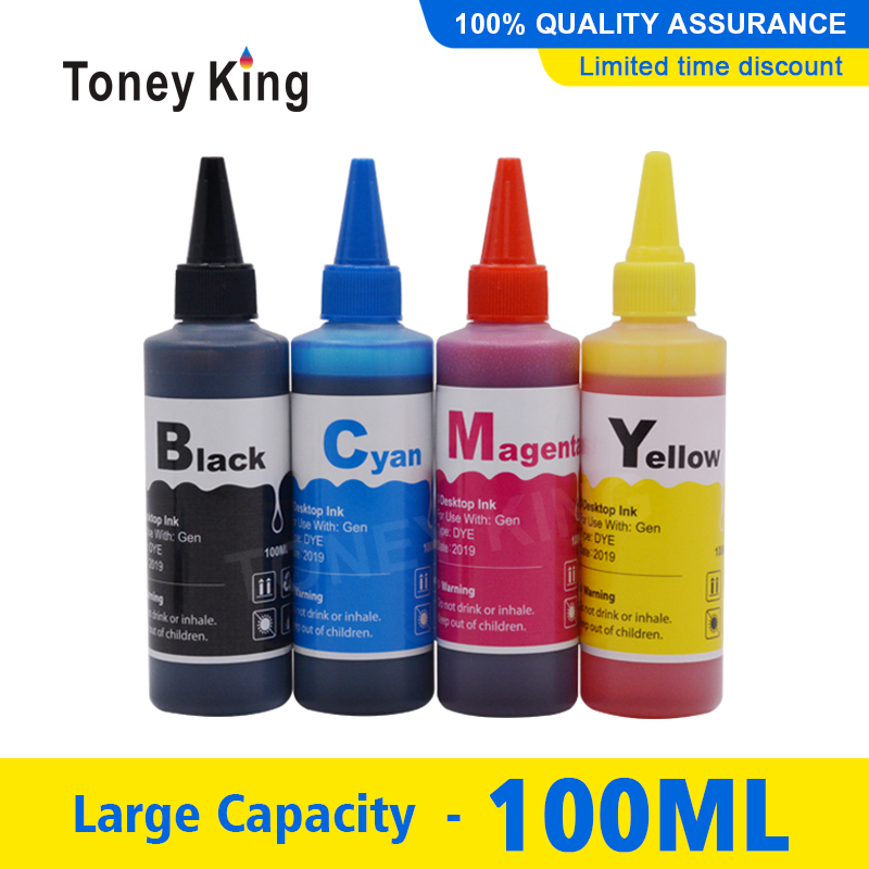 Toney King 100ml Printer Ink For <font><b>HP</b></font> 304 304XL 650 650XL <font><b>652</b></font> 652XL 662 662XL 818 818XL 901 901XL Ink Cartridge image