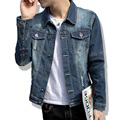 2017 New Hot selling Casual Fashion Men's Denim Jacket High Qality Comfortable Male Cowboy Jacket Plus Size M-5XL