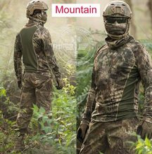 Kryptek camouflage Hunter Clothes casual motion Quick dry t-shirt Military tactical gear mandrake highlander Airsoft Shirt(China)