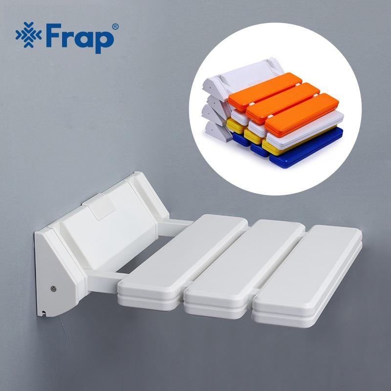 Frap Wall Mounted Shower Seats Bathroom Blue Shower Folding Seat Bath Chair Elderly Shower Spa Bench Stool