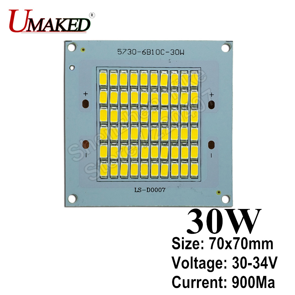 Full Power Floodling light source 30W 3000lm led PCB with SMD5730 chip,70x70mm led pcb board, Aluminum plate for led floodlight