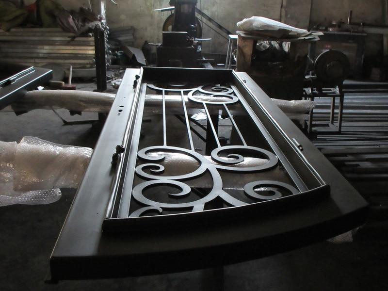 Custom made biggest jamb&door top quality wrought iron doors hench-id7