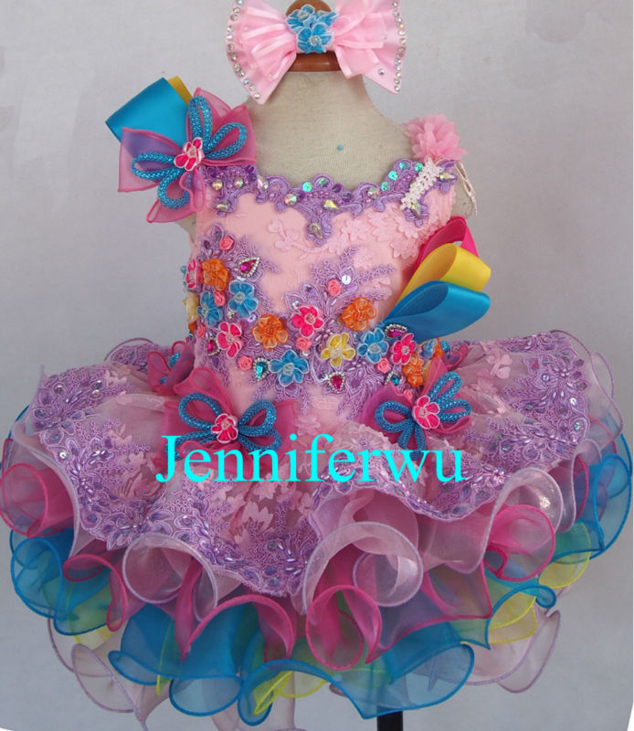 купить delicate  baby girl pageant  dress  girl brand clothes little girl party dress and clothes G218F дешево