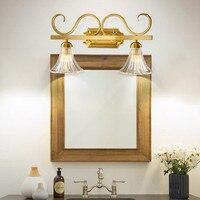 Американский округа туалет Зеркало спереди бра Европейский Медь душевая Водонепроницаемый Стекло светодиодный светильники Бесплатная до