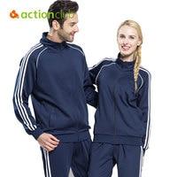 Actionclub Sportwear Brand Men Sport Suit Outdoor Sports Wear Autumn Long Sleeve Sweatshirts Size S 4XL