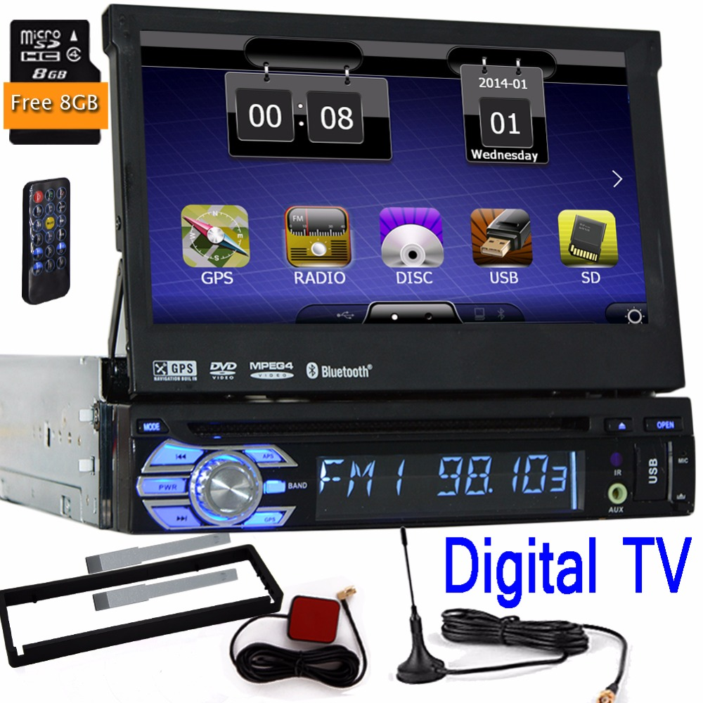 car 1 din autoradio audio rds car dvd player navigation pc gps stereo digital tv movie 1din auto. Black Bedroom Furniture Sets. Home Design Ideas