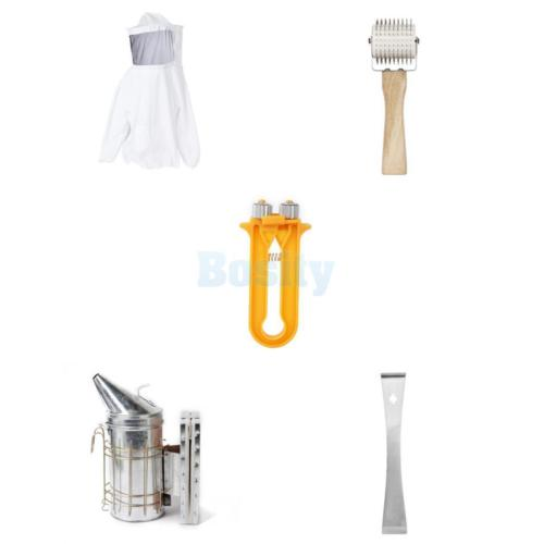 ФОТО Beekeeping Jacket Smock+Uncapping Roller+Wire Tensioner Crimper+Hive +Smoker