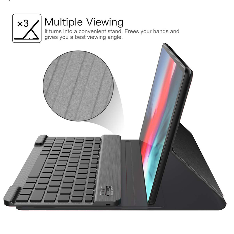 Loufu Luxury Wireless Bluetooth Keyboard For iPad Pro 11 Cover Case PU Leather For iPad Pro 11 Keyboard With Smart Cover A2013 in Tablets e Books Case from Computer Office