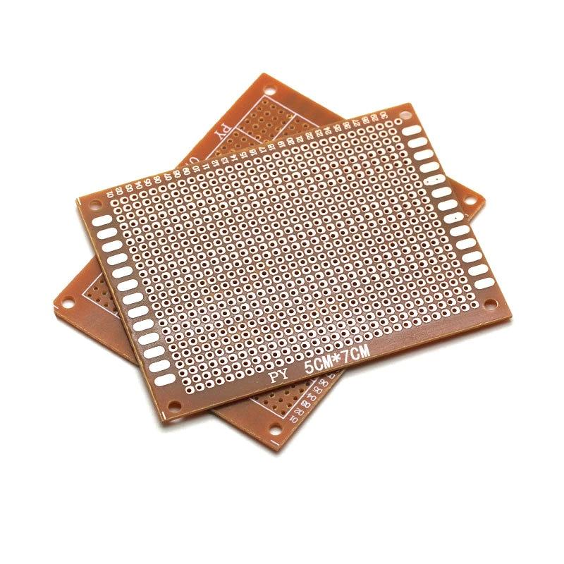 ¡10 piezas de alta calidad! Nuevo prototipo de papel de cobre PCB Universal prueba matriz placa de circuito 5x7cm Radioenlace Mini MÓDULO DE OSD para Mini PIX/controlador de vuelo Pixhawk de RC Drone