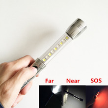 Aluminum alloy 3 Mode waterproof LED lighting 300 Lm Portable magnet design Light Power by AA battery