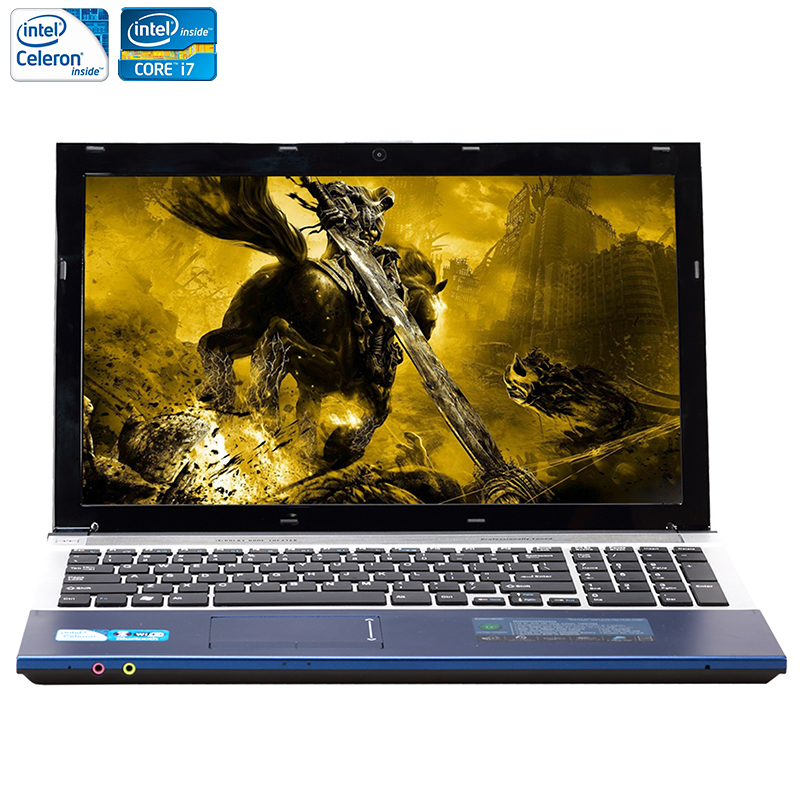 15.6inch 8GB RAM+750GB HDD i7 or J1900 CPU Windows 7/10 System 1920X1080P FHD Wifi Bluetooth DVD-RW Laptop Notebook Computer