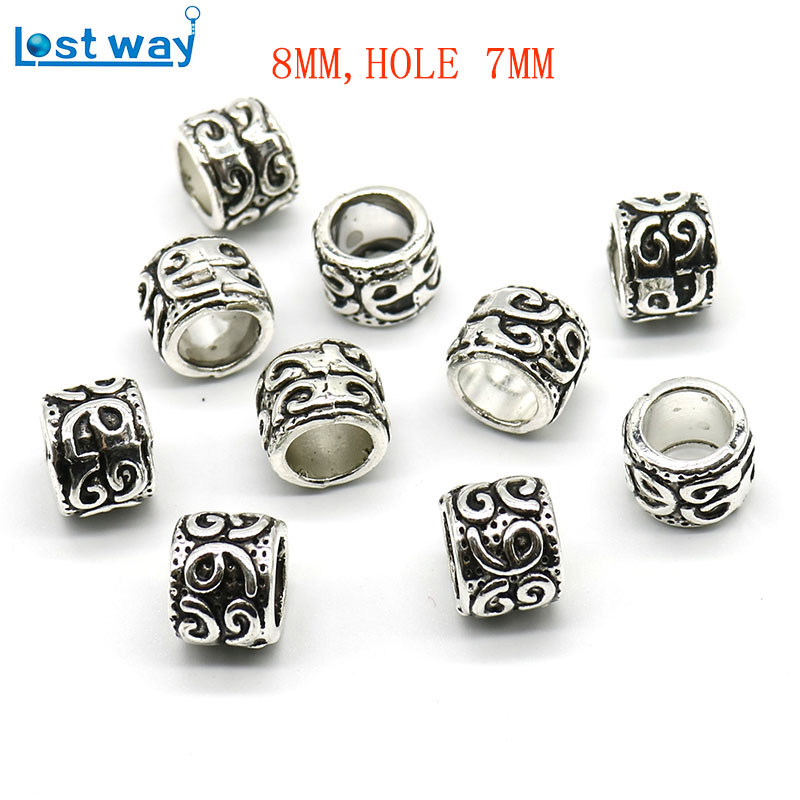 Wholesale 10//20Pcs Tibetan Silver Round Beads Hollow Out Spacer Loose DIY 8mm