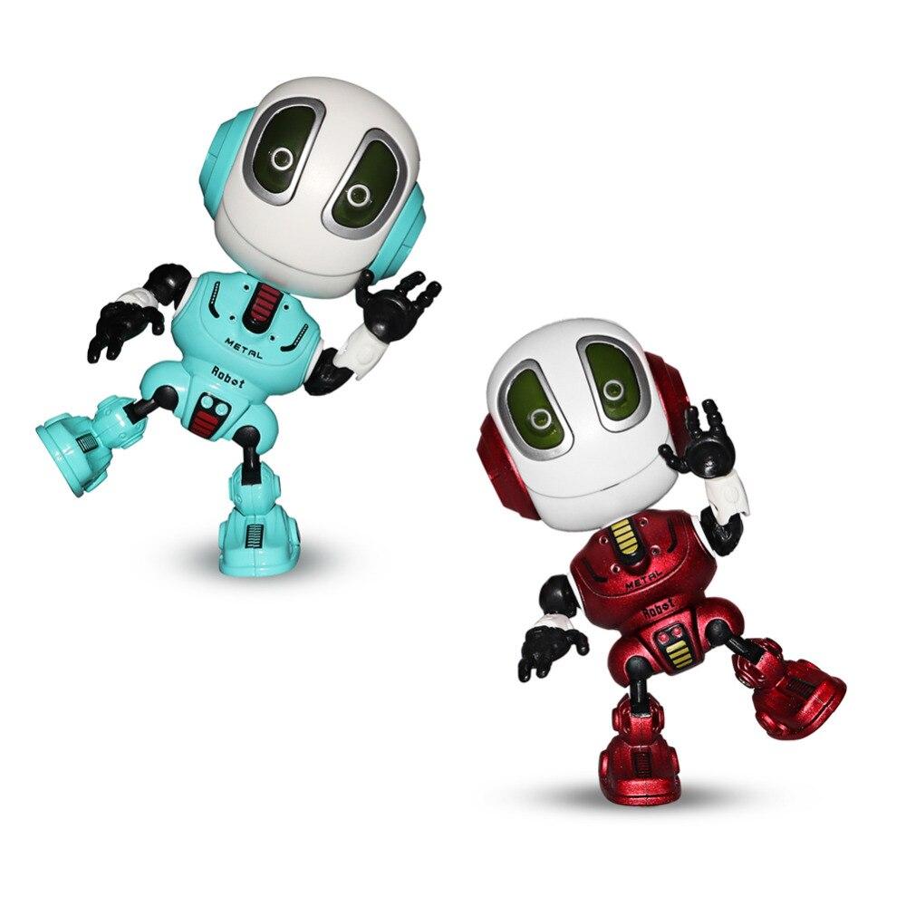 Da xin falando robôs mini robô brinquedo de viagem com corpo posable, haste educacional inteligente brinquedos trocador voz e robótica para crianças