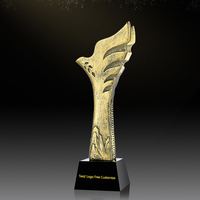 RTAT0015 New Arrival Eagle Wing Resin Bronze Business Sports Student Souvenir Crystal Cup Award Trophy Collection