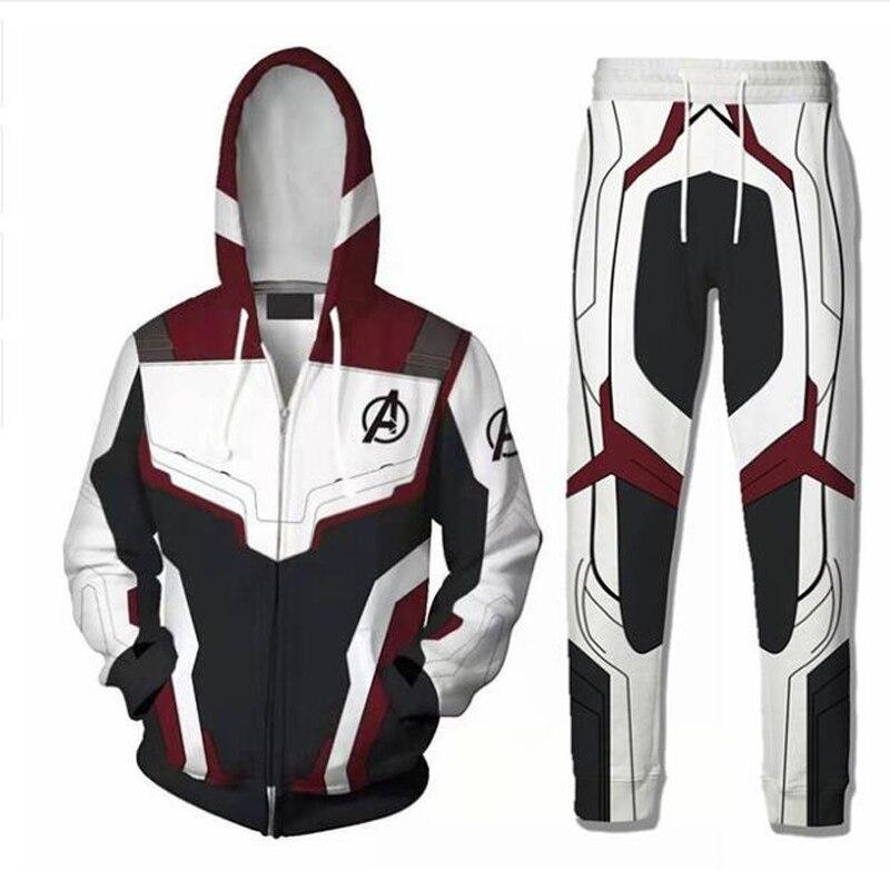 Avengers Endgame Quantum Realm Sweatshirt Jacket Advanced Tech 3D Hoodie Cosplay Costumes Superhero T-Shirt Iron Man Hoodie Suit