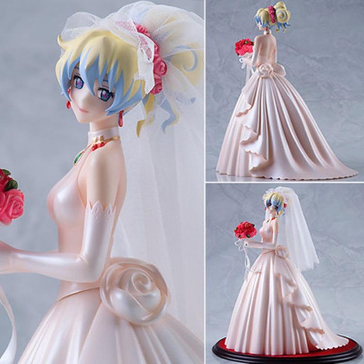 где купить 25cm Japanese anime figure Myethos Tengen Toppa Gurren Lagann Ferrous Palin white wedding dress action figure дешево