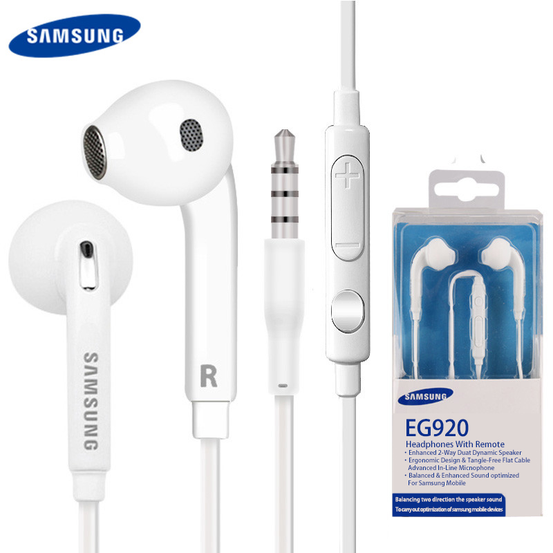 Original SAMSUNG EO-EG920BW Earphones Wired 3.5mm With Mic 1.2m In-ear Stereo Sport Earphones For Samsung Galaxy S7 S7Edge S8 S9