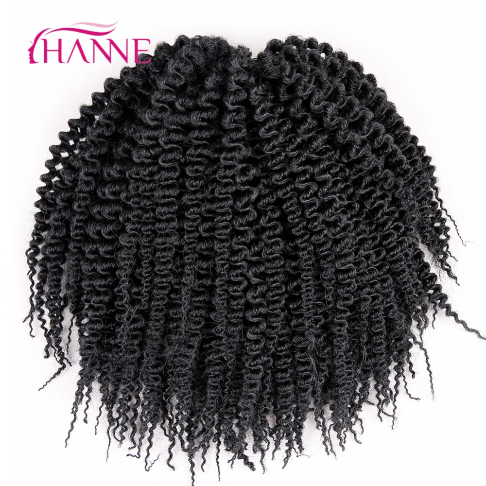 HANNE 6pcs Freetress Low Temperature Fiber 10 52strands piece Pre Loop Island Twist Crochet Braids Synthetic