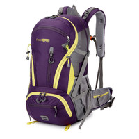 Outdoor Rucksack Camping Hiking Backpack Trekking 45L Purple Waterproof Sports Bag Backpacks Bag Climbing Travel Rucksack