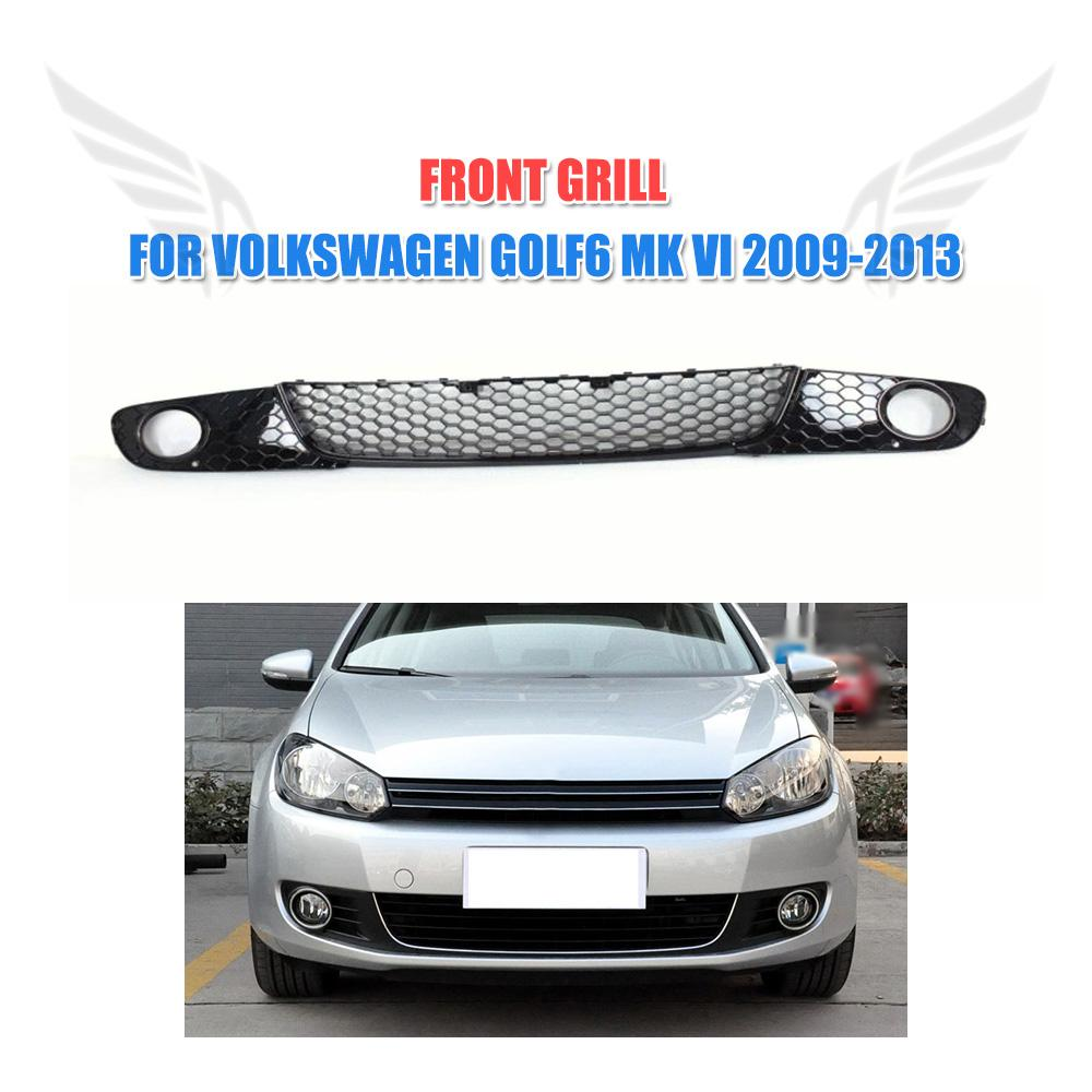 ABS Front Grille Lower Grill Fog Light Mesh Covers For Volkswagen VW Golf 6 VI MK6 standard Bumper 2010-2013 3PCS/Set front car bumper mesh grille for 2014 chery tiggo 5 car front mesh grill