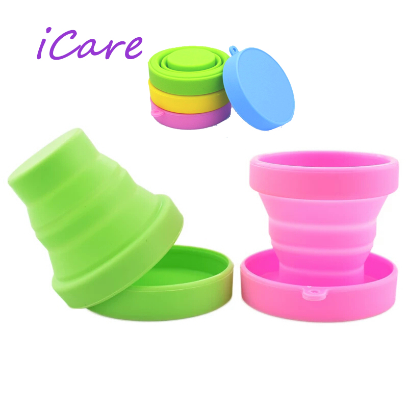 Sterilizer Menstrual Cup 1 Piece Soft Water Silicone Cups Retractable Folding Gargle Cup For Outdoor Travel Drinkware Tool
