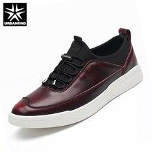 URBANFIND Мужчины Квартиры Обувь Повседневная Кожаные Ботинки EU 38-44 2016 Новый Бренд Дизайнер Моды для Мужчин Оксфорд Обувь Твердые цвет