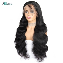 Allove Brazilian Body Wave Lace Front Wig For Black Women 4X4 Closure Wig 8-24 Pre Plucked Lace Front Human Hair Wigs Remy Hair
